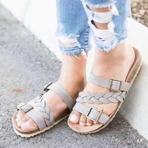 Shoes - TERRI Braided Sandal - TAUPE